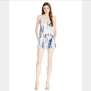 French Connection HolidayWave Tie Dye Vneck Romper